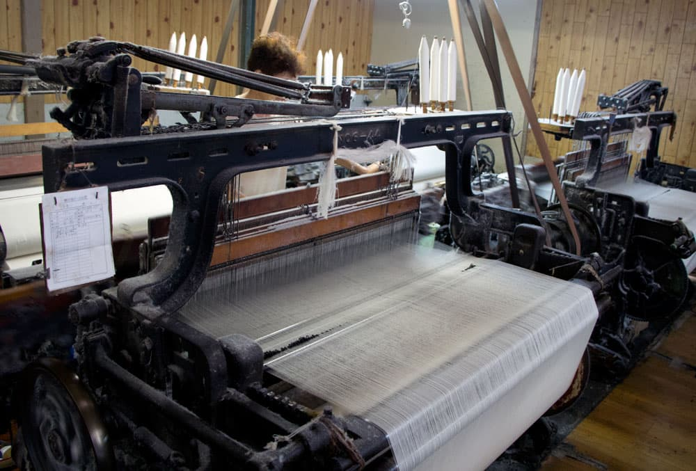 別珍生地織物工場